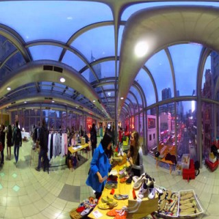 Zapas stall at the RMIT Design Market Melbourne Central Facebook 360 360 virtual reality